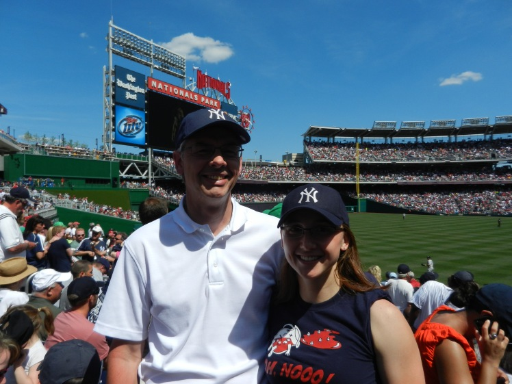 Father's Day 2012 - at the Yankees game!